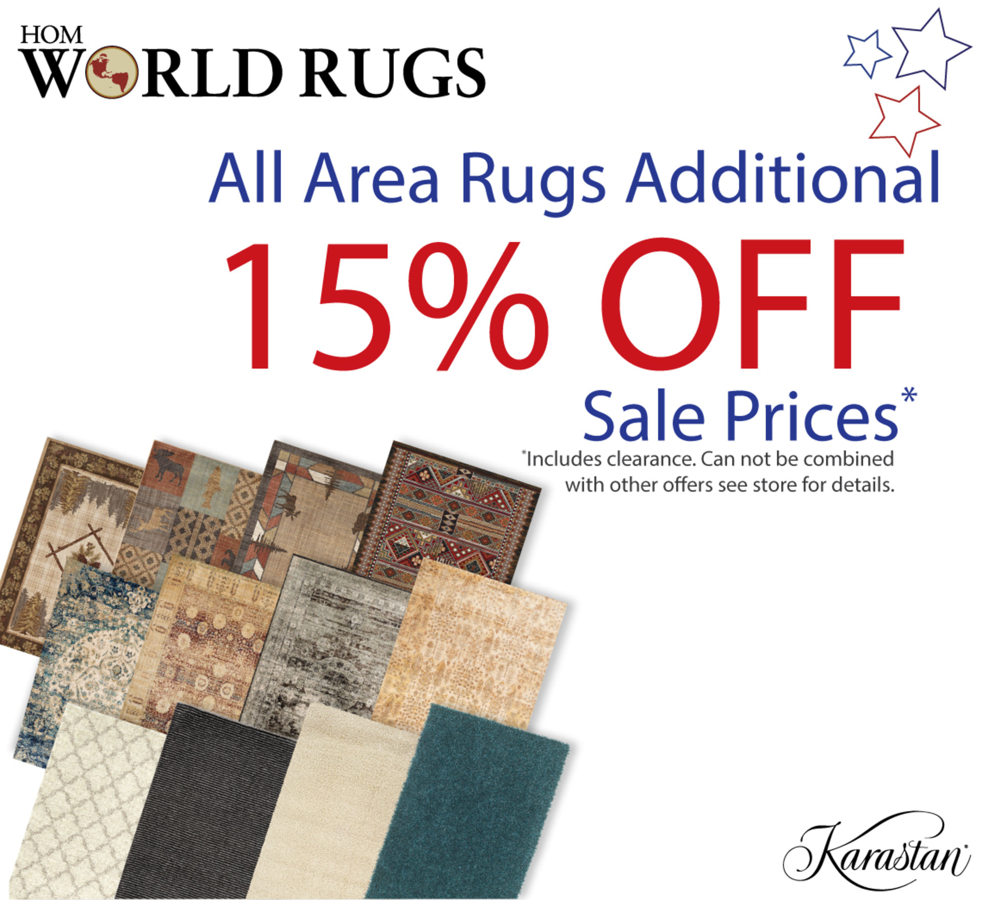 15% OFF Area Rugs